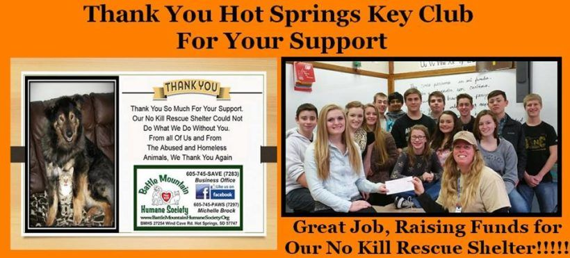 thank you to hot springs key club